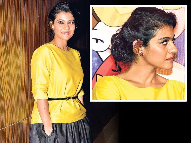 Kajol attended a movie promotion in Mumbai, sporting earrings that were earlier worn by Sonam Kapoor and Sonakshi Sinha at different events.