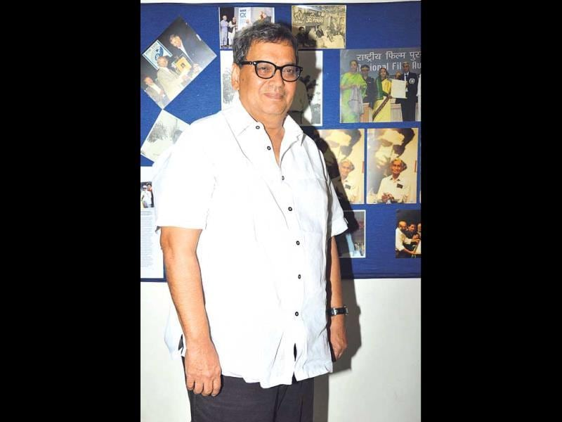 Film-maker Subhash Ghai was spotted at an event. (HT PHOTO)