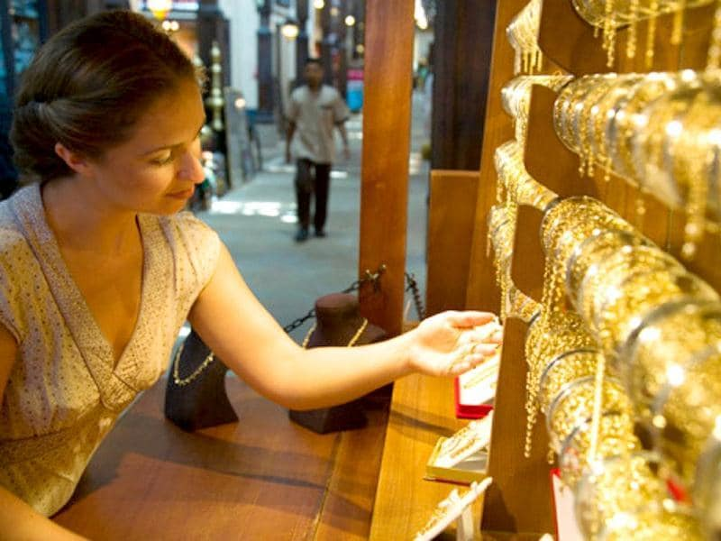 The dazzling Gold Souk is a must visit when in Dubai. The Emirate is known for its really cheap gold and the good news is you can haggle for it. (Getty)