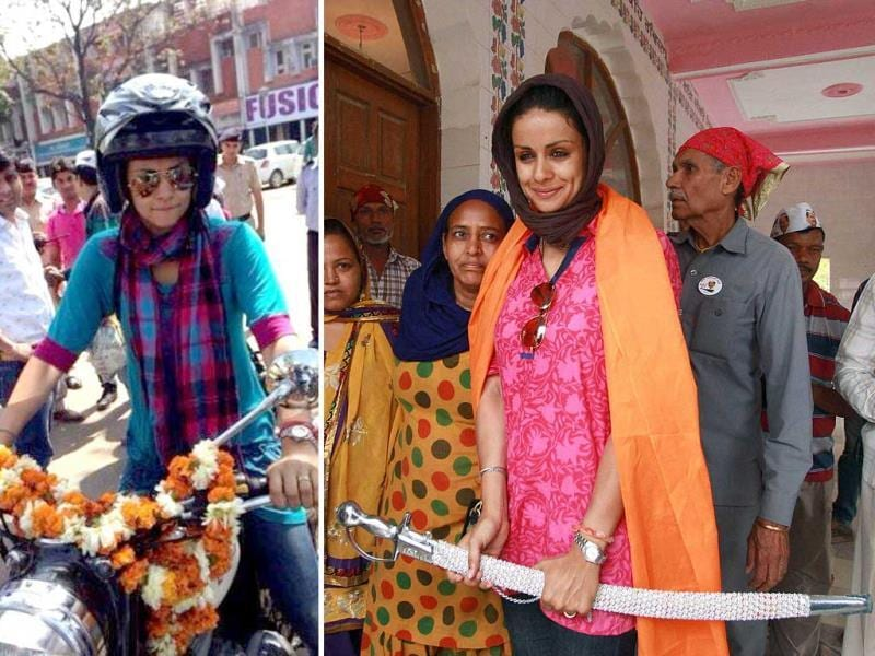 Actor Gul Panag loves her bike! Not only did she ride a bike on her wedding day, it was her preferred mould of transport while campaigning too! She rode a bike and like a true sardarni wielded a sword at a gurdwara during her campaigning for the general elections 2014.