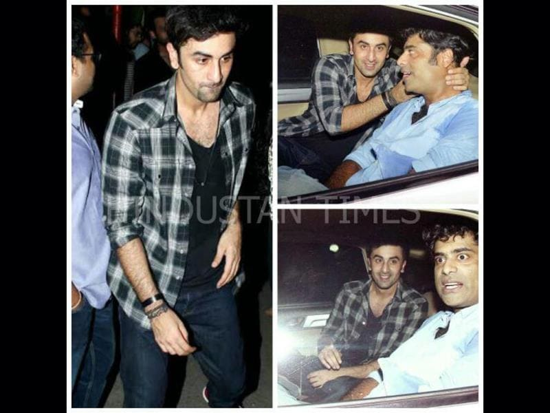 A rocking weekend indeed for Ranbir Kapoor! After a movie date, he was spotted partying hard on Saturday with friends.