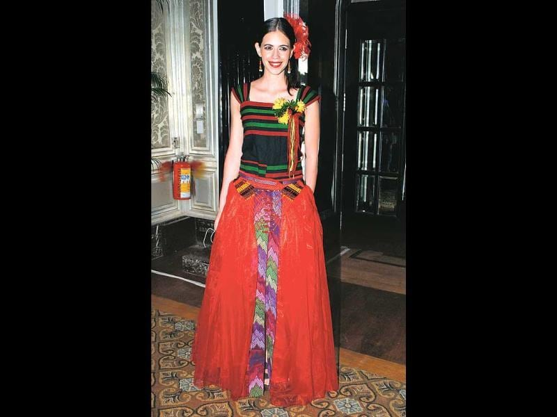 Kalki Koechlin was seen dressed in a Naga outfit at a city event dedicated to north-east India.