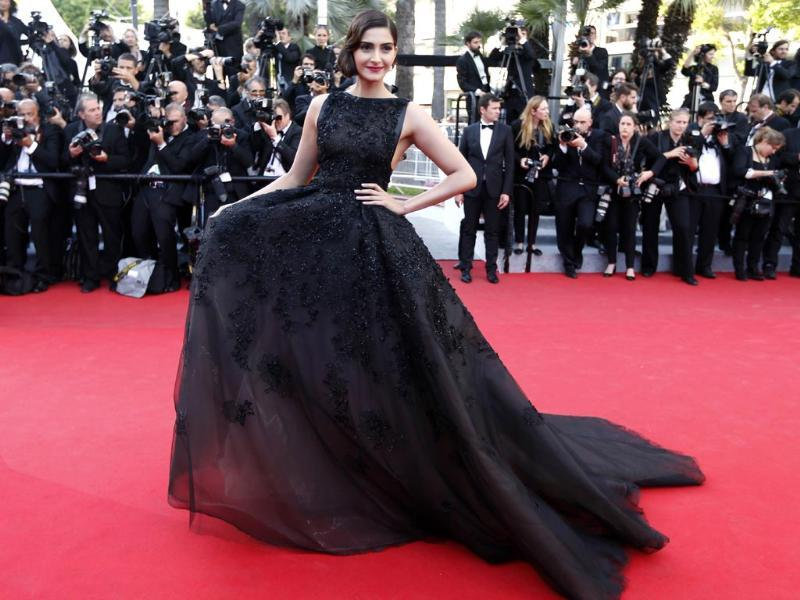 The Ranjhanaa star debuted at Cannes in 2011 and turned heads for her her excellent fashion sense be it the white Jean Paul Gaultier couture she wore in 2011, the Alexander McQueen black lacy gown in 2012 or the statement kundan nath she sported last year.