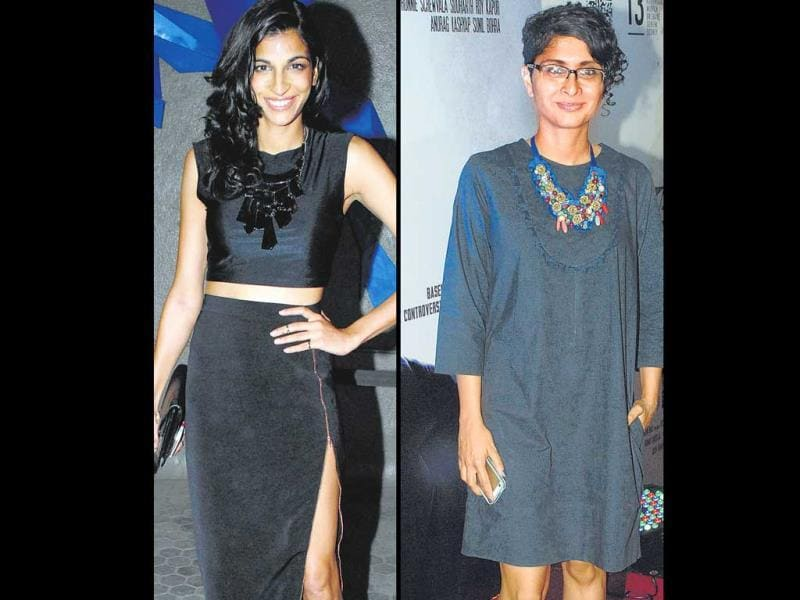 Most of us take our fashion cues from what celebs wear. But do they always get it right? This weekly column puts their looks under the scanner.The good: Anushka Manchanda at a recent music event and Kiran Rao at a film success party.OURTAKE: The singer kept it simple in chic, black separates. Despite the look lacking a pop of colour, we find ourselves drawn to it. | With a cool new hairdo to flaunt, Kiran impressed with her laidback style yet again. The ­necklace adds just the right punch to keep it from getting boring. (HT PHOTO)