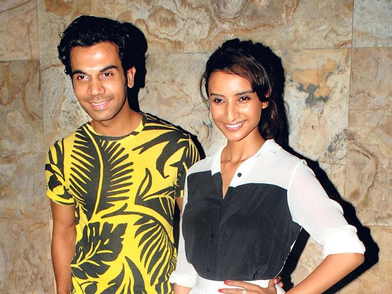 Rajkummar Rao and Patralekha at the screening of their movie Citylights. (Photo: Prodip Guha)