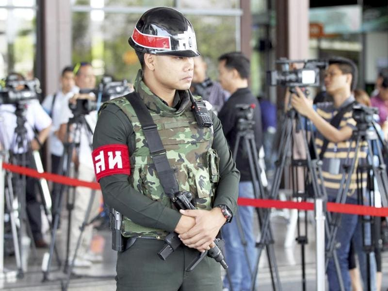 Thailand's army declared martial law in a surprise announcement it said was aimed at keeping the country stable after six months of turbulent political unrest. (AP photo)