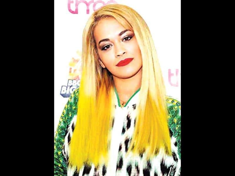 Look for salons that can provide an ammonia-free solution for your pop-coloured hair. Remember, as the colour fades, it will have that unfortunate tinge of bleach, so always make a smart choice. (Agency Photo)In picture: Rita Ora