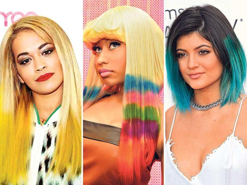 If you don't believe in making an impact with loud lipstick or a stroke of exaggerated cat-eye liner — let your hair do all the talking.Take inspiration from Hollywood beauties and go for pops and pastels for your locks this summer. (Agency Photo)