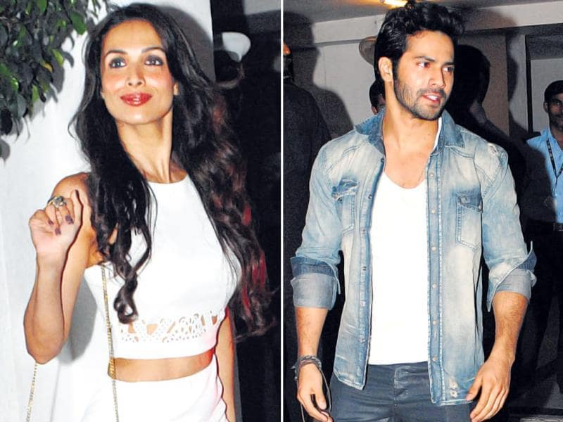 Varun Dhawan and Malaika Arora Khan were also spotted. (HT PHOTO)