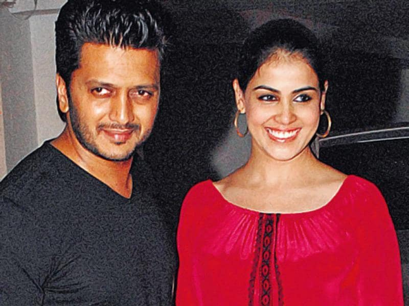 Riteish Deshmukh and Genelia were also spotted at the event. (HT PHOTO)