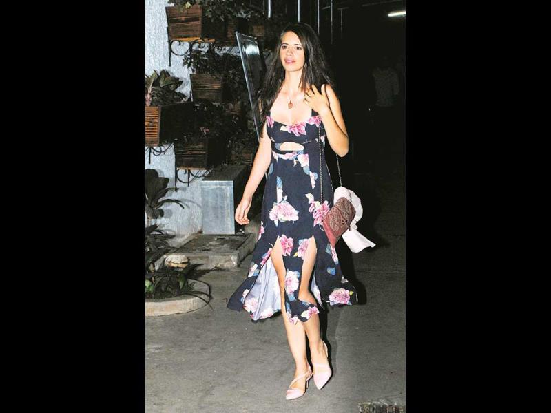 Kalki Koechlin stole the show with her flowery dress and a smile to complete the look.