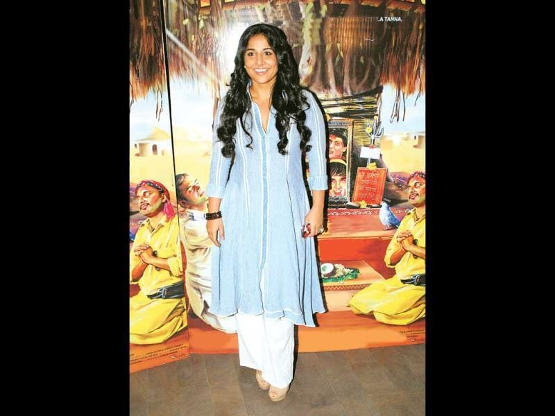 Vidya Balan was accompanied by her husband Siddharth Roy Kapoor. She was spotted in a very comfortable-looking blue kurta with white pants.