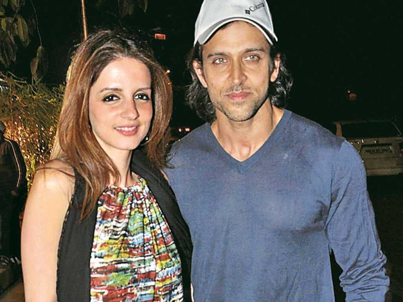 Hrithik-Sussanne: The couple ended their 14-year-old marriage last year but both are good friends today. They recently hosted their son Hrehaan's birthday party together. (Photos: Amlan Dutta/HT)