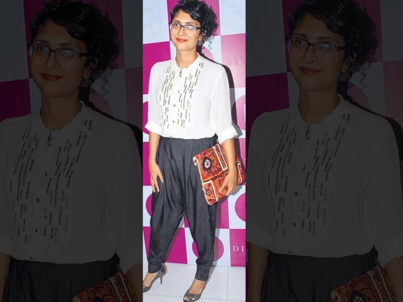 Most of us take our fashion cues from what celebs wear. But do they always get it right? This weekly column puts their looks under the scanner.The Good: Kiran Rao at a fashion event.OURTAKE: Once again, Kiran displays her ease at styling classy looks with a touch of quirk. Here, it's the oversized clutch that makes all the difference. (HT PHOTO)