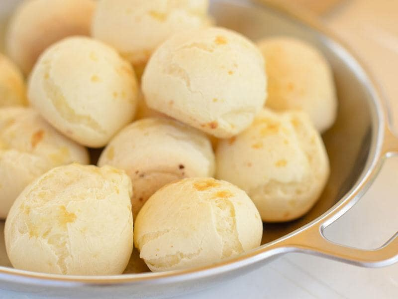 Pao de QueijoThe local population in the state of Minas Gerais often enjoys cheese for breakfast, as in this popular dish, which might also be enjoyed as an hors d'oeuvre. This