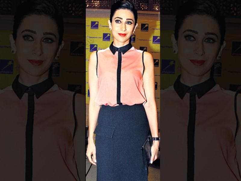 Post fresh reports of her divorce, Karisma Kapoor, showed up at an event looking radiant. (HT Photo/Yogen Shah)