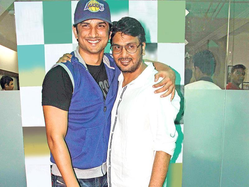 Sushant Singh Rajput with Mukesh Chhabra (Photo: Prodip Guha)