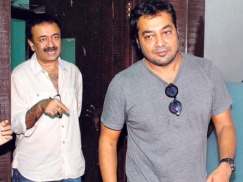 Ace director Rajkumar Hirani and Anurag Kashyap spotted together. (Photo: Prodip Guha)