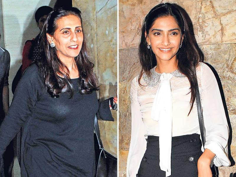 Sonam Kapoor had mother Sunita for company at a movie screening that looked like Mothers' Day outing actors were spotted with their moms. (Photo: Prodip Guha)
