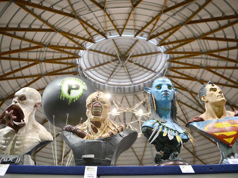 Model masks of movie characters are displayed at the Supanova Pop Culture Expo in Sydney. (AFP photo)
