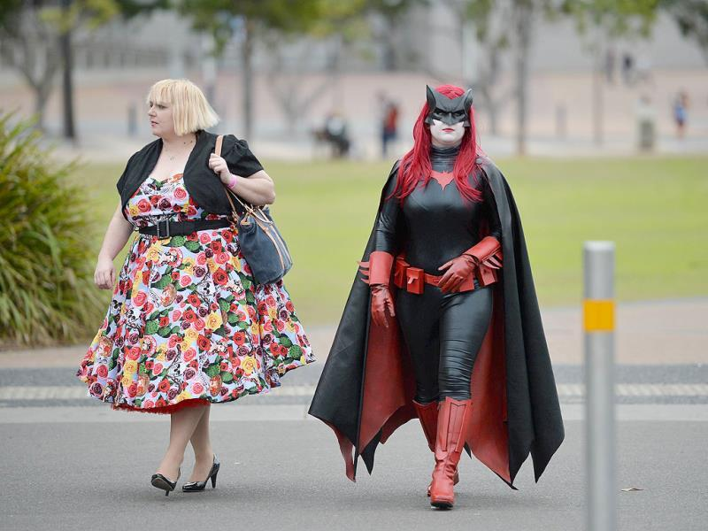 People dressed in costume attend the Supanova Pop Culture Expo in Sydney. (AFP photo)