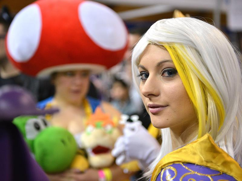 A woman dressed in costume poses as she attends the Supanova Pop Culture Expo in Sydney. (AFP photo)