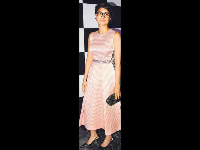 On the other hand, Kiran Rao picked a more modest dress. HT Photo/Yogen Shah