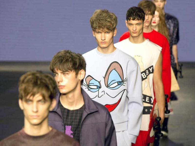 Models present creations from MAN during its London Collections: Men show in London. (Reuters)