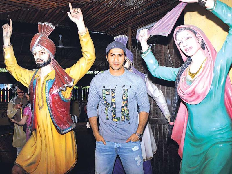 Here's Varun Dhawan's idea of bringing a bit of Punjab to Mumbai. (Photo: Yogen Shah)