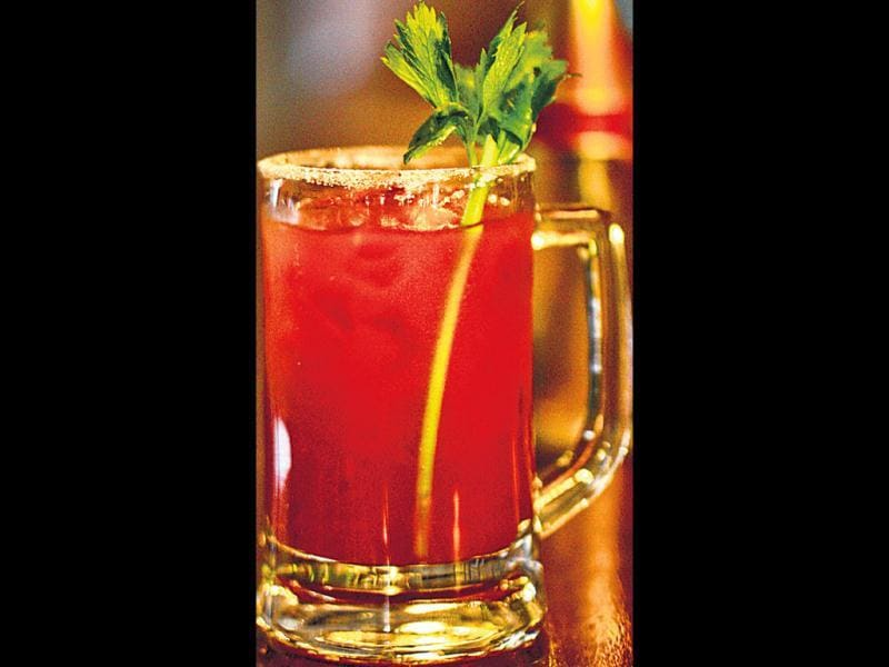 marybeerIngredients: 90ml tomato juice, 15ml lemon juice, 5 drops ­angostura, 5 drops tobasco sauce, 5 drops Worcestershire sauce, 120ml beer, salt to rimProcedure: Shake the tomato juice with other condiments and ice. Pour in a salt rimmed beer mug. Top it with beer.Input by Amit Singh, ­operations manager, Monkey Bar