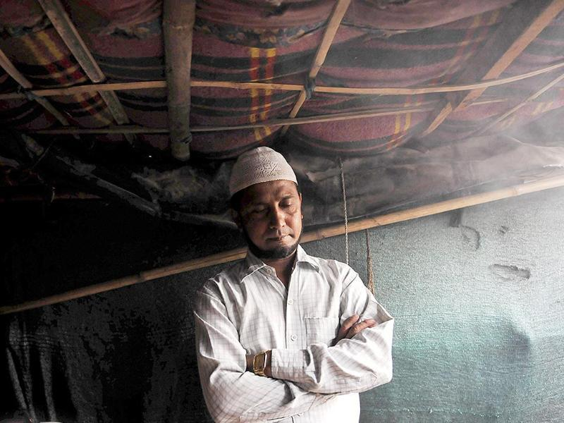 Mohd Haroon, Rohingya Muslim, fled Burma 8 years ago, a day after his cousin sister was raped. He now lives with his family in Delhi, along with others from his community. (Saumya Khandelwal/ HT Photo)