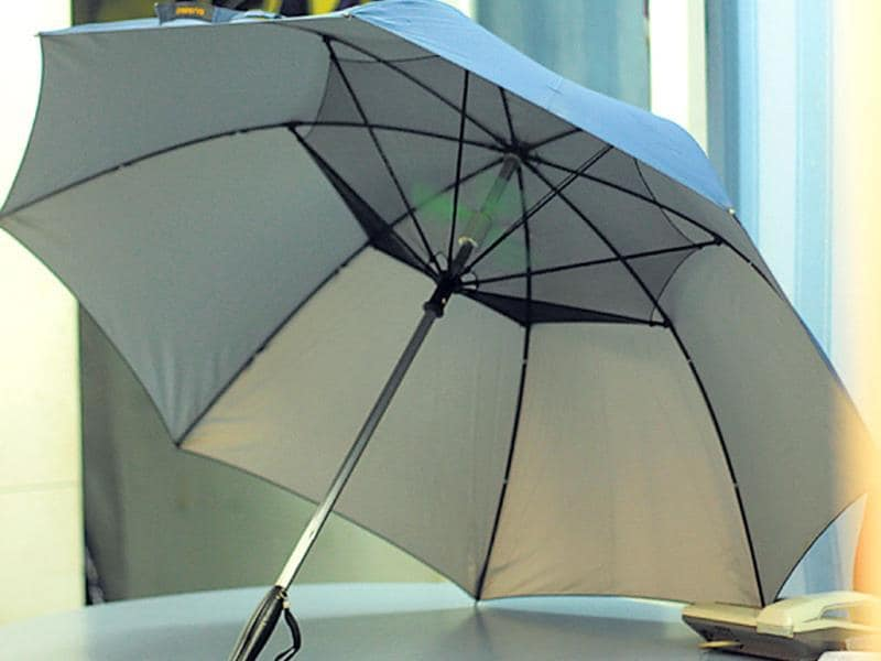 UMBRELLAS WITH FANS: Whether it's to battle the mugginess that comes with the rain or the heat from the scorching sun, the in-built fans in these umbrellas prepare you for both. One such piece would cost you Rs 2,200 and requires three AA batteries to function.