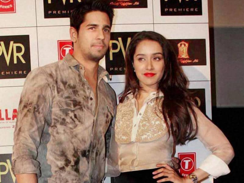 Sidharth Malhotra & Shraddha Kapoor at a promotional event for Ek Villain in Delhi. (PTI Photo)