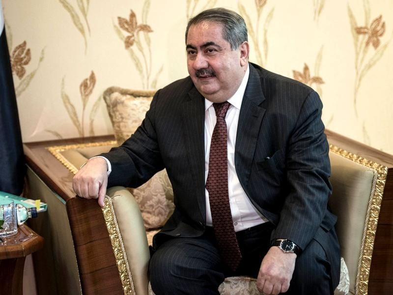 Iraqi foreign minister Hoshyar Zebari meets John Kerry (not pictured) in Baghdad. (Reuters photo)