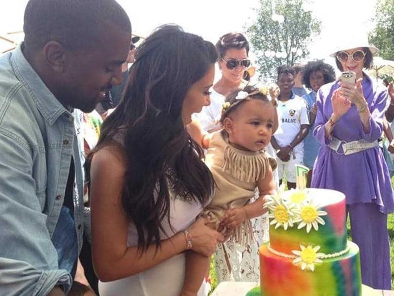For North West's first birthday, which was on June 15, newlyweds Kanye West and Kim Kardashian decided to throw Kidchella on June 21. The proud mom put up a photo on Facebook with the caption: Our baby girl's 1st birthday party! (Photo: Facebook user Kim Kardashian)