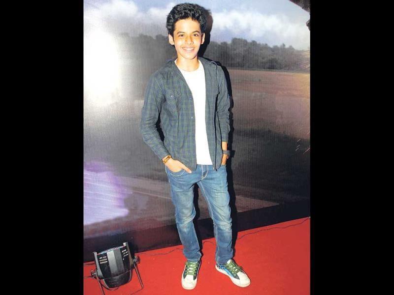 Darsheel Safary spotted at a movie screening in Mumbai. (Photos: Prodip Guha)