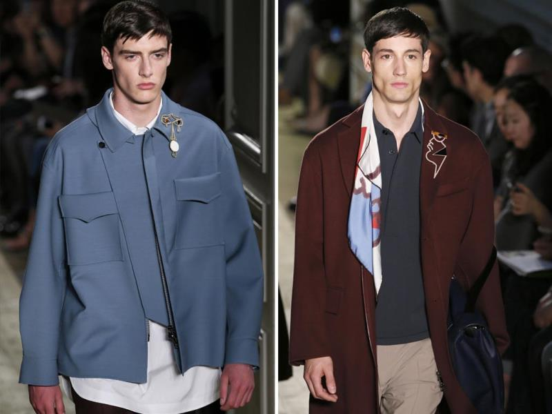 Even in his spring-summer collection, Valentino couldn't ignore the ever-so-essential jackets.