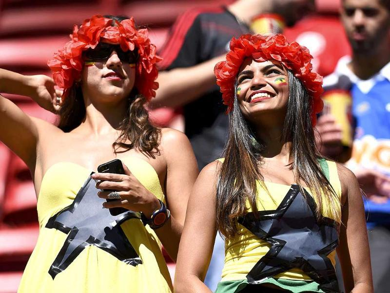 Ghana fans attend the 2014 World Cup Group G match against Portugal at the Brasilia national stadium in Brasilia. (Reuters Photo)