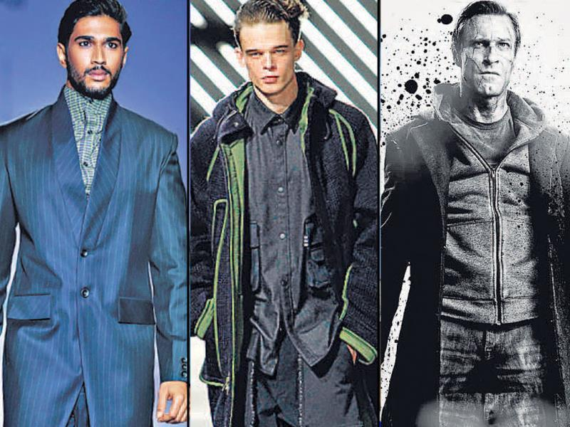 I, Frankenstein: Frankenstein's monster conjures up an image of dread that can be imagined in a dapper way, with doublebreasted cloaks, luxurious faux leather and sharply tailored coats with wide lapels. Take inspiration from Aaron Eckhart in the film and focus on slouchy layering, heeled boots for the summer.Far Left: design by Arjun Saluja; Centre: design by label Y-3