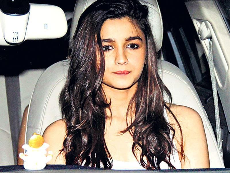 Actor Alia Bhatt was also present at the party.