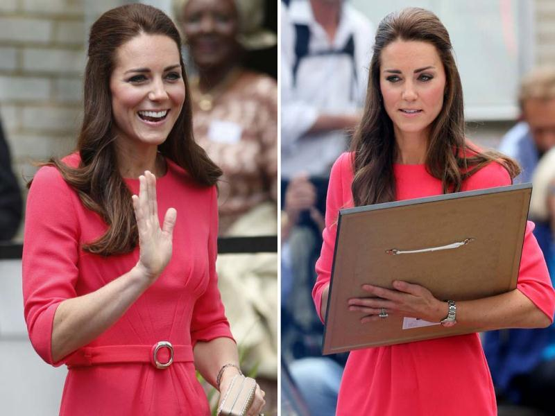 Ever since Kate Middleton stepped out in a red dress, the demand for similar outfits has gone up and online stores have been bombarded with orders. (AP)