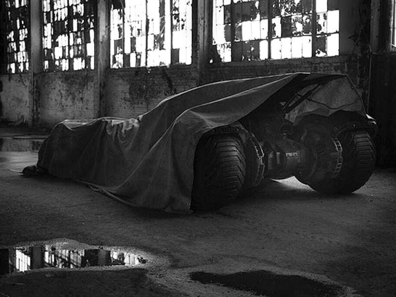 A sneak peek at the Batmobile.