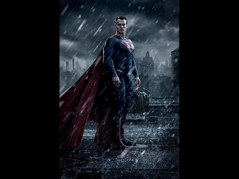 Henry Cavill dons the costume in this first look of Superman from Batman V Superman: Dawn of Justice.