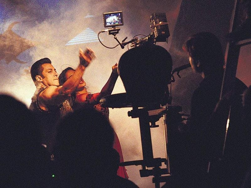Salman Khan at a film shoot. (HT Photo)