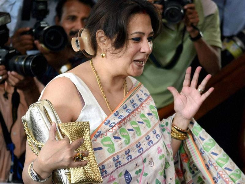 TMC MP Moon Moon Sen arrives at Parliament House in New Delhi on Tuesday during the budget session. (PTI Photo)
