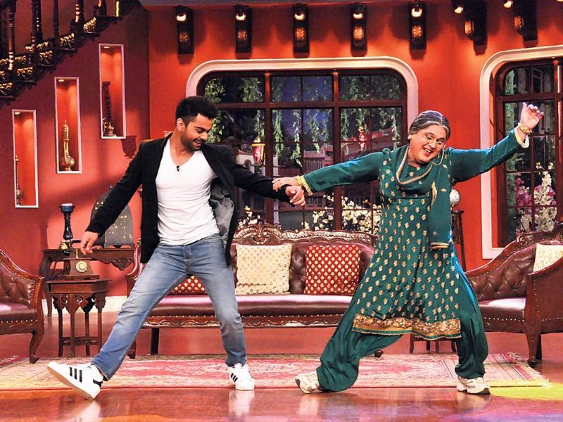 Cricketer Virat Kohli on the sets of Comedy Nights with Kapil.