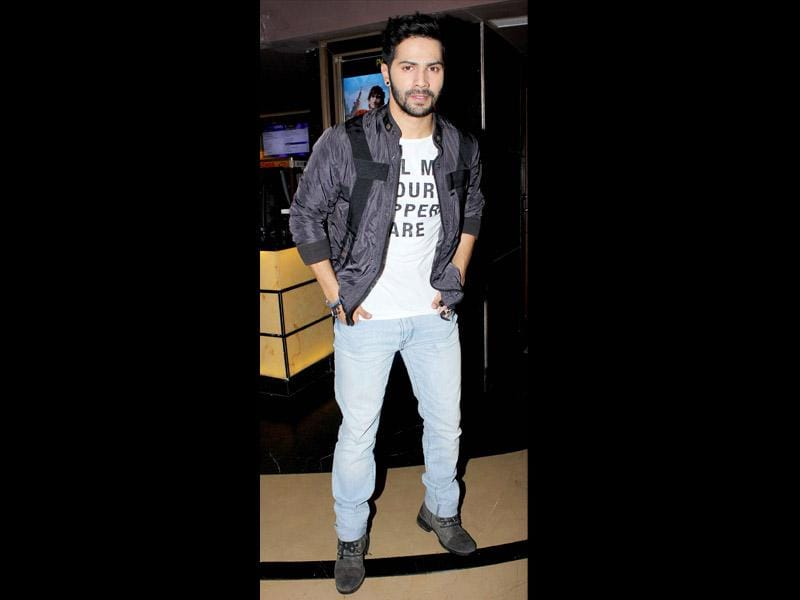 Varun Dhawan at the Humpty Sharma Ki Dulhania screening.
