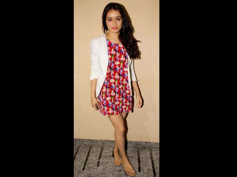 Shraddha Kapoor makes an appearance at the screening of Humpty Sharma Ki Dulhania.