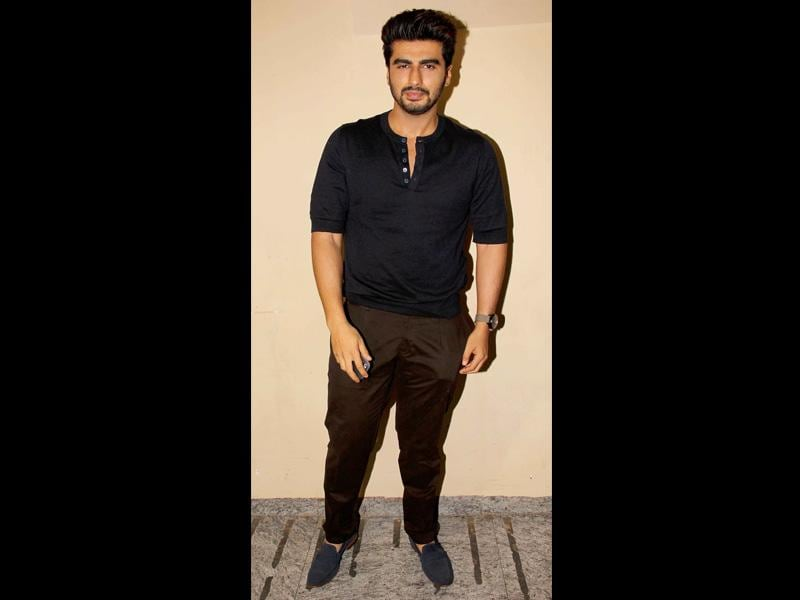 Arjun Kapoor attends the screening of Humpty Sharma Ki Dulhania in Mumbai.