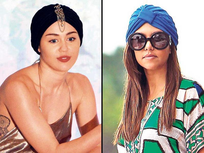 If you thought turban headbands are best left to the boho, retro fashionistas or the catwalk ramps, then think again. From wearing one to stylishly hide your bad hair days to instantly pepping up your monotone dress, we tell you all about wrapping a turban headband for every occasion.Here are celebs Miley Cyrus and Kourtney Kardashian sporting the band. Go ahead, it is time to get armed with style and just band it, queen!Text: Arpita Kala, Photo: HT Photos